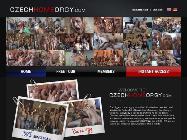 Czech Home Orgy Account